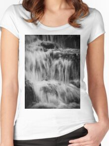 Waterfall design Women's Fitted Scoop T-Shirt