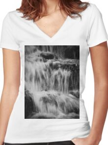 Waterfall design Women's Fitted V-Neck T-Shirt