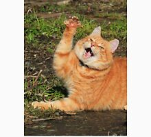 Ginger cat playing Unisex T-Shirt