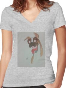 I Heart Boxers Women's Fitted V-Neck T-Shirt
