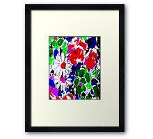 """""""LARGE COLOR FLOWER"""" Art Deco Print Framed Print"""