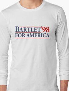 Bartlet for America Slogan Long Sleeve T-Shirt