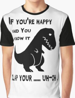 If You Know It Clap Your ... Trex Funny T-shirt Graphic T-Shirt