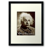 Albert, Einstein, Portrait, signature, Physicist, Genius, mathematician Framed Print
