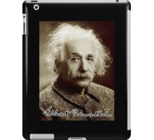 Albert, Einstein, Portrait, signature, Physicist, Genius, mathematician iPad Case/Skin