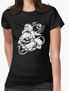 Space Boarding Womens Fitted T-Shirt