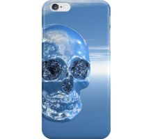 Blue Real Human Skull in 3D iPhone Case/Skin