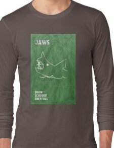 Jaws Movie Poster Design Long Sleeve T-Shirt