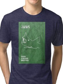 Jaws Movie Poster Design Tri-blend T-Shirt