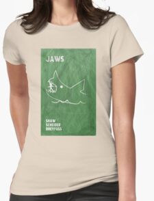 Jaws Movie Poster Design Womens Fitted T-Shirt