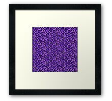 Faux Fur Fabric Purple Black Framed Print