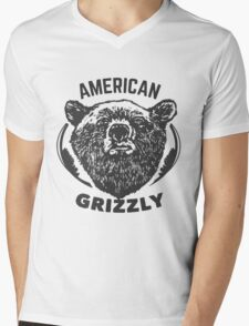 American Grizzly Mens V-Neck T-Shirt