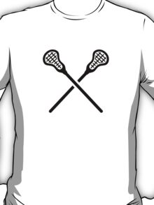 Crossed lacrosse sticks T-Shirt
