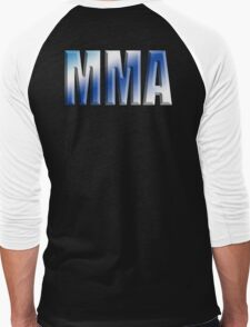 MMA, Mixed, Martial Art, Contest, Combat, Fight, Box, Ju Jitsu, Wrestle, Grapple Men's Baseball ¾ T-Shirt