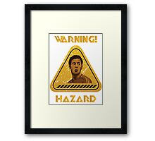 Chelsea Warning Hazard Framed Print