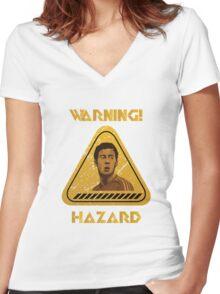 Chelsea Warning Hazard Women's Fitted V-Neck T-Shirt