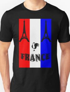 France Roosters and Eiffel Tower Unisex T-Shirt
