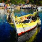 The Yellow Fisher Boat by jean-louis bouzou