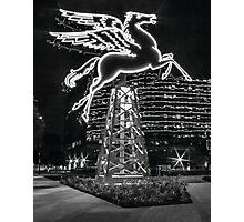 Dallas Pegasus BW Photographic Print