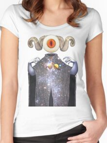 Galactic All-seeing Eye Women's Fitted Scoop T-Shirt