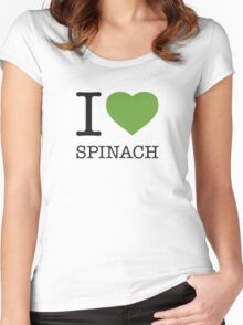 I ♥ SPINACH Women's Fitted Scoop T-Shirt
