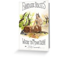 Fantastic Beasts Greeting Card