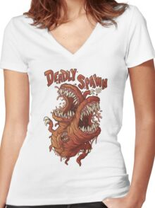 Deadly Prey Women's Fitted V-Neck T-Shirt