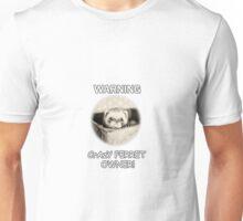 Ferret. warning Crazy ferret owner Unisex T-Shirt