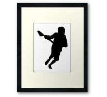 Lacrosse player sports Framed Print