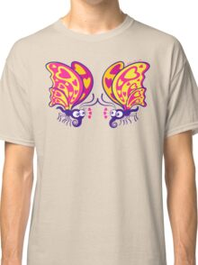 Couple of beautiful butterflies madly falling in love Classic T-Shirt