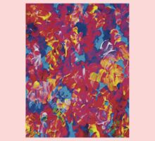 """FLOWER ABSTRACT"" Painting Colorful Print Kids Tee"
