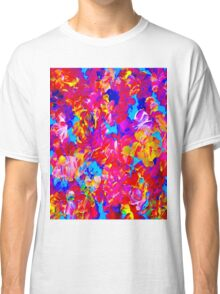 """""""FLOWER ABSTRACT"""" Painting Colorful Print Classic T-Shirt"""