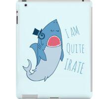 Gentleman Shark quite irate iPad Case/Skin