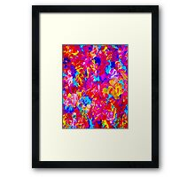"""""""FLOWER ABSTRACT"""" Painting Colorful Print Framed Print"""