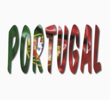 Portugal Word With Flag Texture Baby Tee
