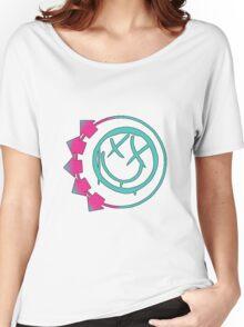 blink 182 6 arrow colour logo Women's Relaxed Fit T-Shirt