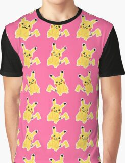 Happy Pikachu Retro Pixel Art Pattern Graphic T-Shirt