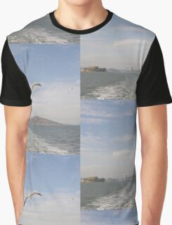 Sea Birds Alcatraz San Francisco USA Graphic T-Shirt