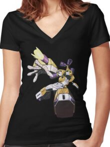 METABEE Women's Fitted V-Neck T-Shirt