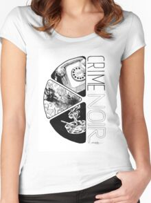 Crime Noir Women's Fitted Scoop T-Shirt