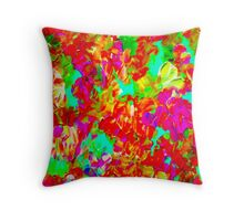 """ABSTRACT FLOWER GARDEN"" Painting Print Throw Pillow"
