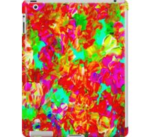 """ABSTRACT FLOWER GARDEN"" Painting Print iPad Case/Skin"