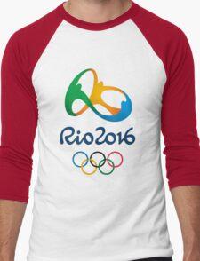 rio olympic 2016 Men's Baseball ¾ T-Shirt