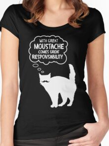 With Great Moustache Women's Fitted Scoop T-Shirt