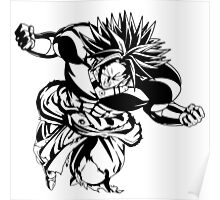 Dragon Ball Z Legendary Super Saiyan Broly T-Shirt Anime Manga Poster
