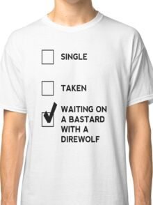 Game of Thrones - B*stard with a Direwolf Classic T-Shirt