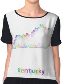 Rainbow Kentucky map Chiffon Top