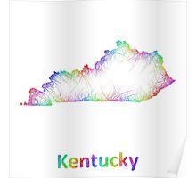 Rainbow Kentucky map Poster