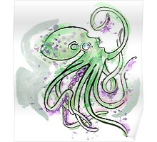 Green Splotchtopus  Poster