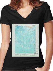 USGS TOPO Map Alaska AK Baird Inlet B-8 354129 1954 63360 Women's Fitted V-Neck T-Shirt